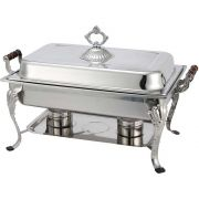 Winco Medium Weight Stainless Steel Full Size Crown Chafer, 8 Quart -- 1 each.