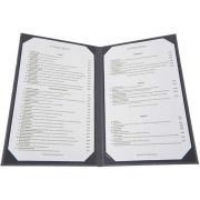 Winco Grey Two Views Menu Cover fits 8 1/2 x 14 inch Legal Size Paper Inserts -- 10 per case.