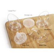 GET Enterprises inc Polycarbonate Plain Salad Dressing Bottle Clip Only -- 12 set.