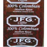 JFG Medium Roast 100 Percent Colombian Portion Pack Coffee, 1.75 Ounce -- 72 per case.