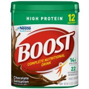 Boost High Protein Meal Replacement Chocolate Powder, 17.7 Ounce -- 4 per case.