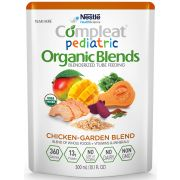 Nestle Compleat Organic Blends Pediatric Chicken and Garden Blend Tube Feeding, 10 Fluid Ounce Pouch -- 24 per case.