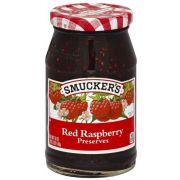 Smuckers Strawberry Red Raspberry Preserves -- 3 per case.