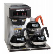 Bunn O Matic Vp-17 3 Ss Pourover Coffee Brewer - 3 Lower Separately Controlled Warmer, 3.8 Gallon Per Hour, Stainless, Portable, Splashgard Funnel, Use Bunn Paper Filter, 17.8 X16.4 X 17.7inch, 120 Volts,15 Amps, 1700 Watts, Cord Attached -- 1 Each.