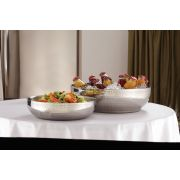 American Metalcraft Stainless Steel Hammered Finish Double Wall Bowl, 657 Ounce -- 1 each.