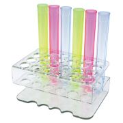 Bar Maid Clear 24 Holes Shooter Tube Rack -- 1 each.