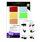 San Jamar Color Coded Cutting Board Smart Wall Chart, 11 x 17 inch -- 1 each.