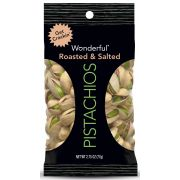 Wonderful Roasted Salted Pistachios, 2.75 Ounce -- 144 per case.