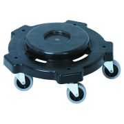 Continental Black Conventional Round Dolly Only, 18 x 5 inch -- 1 each.