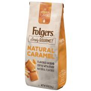 Folgers Simply Gourmet Caffeinated Natural Caramel Ground Coffee, 10 Ounce -- 6 per case.