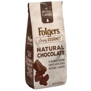 Folgers Simply Gourmet Caffeinated Natural Chocolate Ground Coffee, 10 Ounce -- 6 per case.