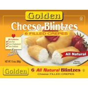 Golden Sweet Cheese Blintzes, 3 Ounce - 15 count per pack -- 6 packs per case.