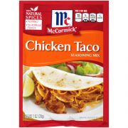 McCormick Chicken Taco Seasoning Mix - 1 oz. envelope, 12 per case