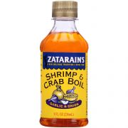 Zatarains Garlic and Onion Liquid Shrimp and Crab Boil, 8 Ounce -- 12 per case.