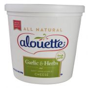 Alouette Garlic and Herb Spreadable Cheese - Bulk, 4.5 Pound -- 2 per case.