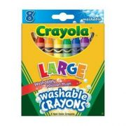 Crayola Kids First Large Washable Crayons  , 12 per pack 24 packs per case