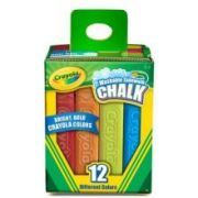 Crayola Washable Sidewalk Chalk - 12 per pack -- 8 packs per case.