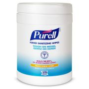 PURELL Sanitizing Hand Wipes, 6 x 6 3/4 inch, White, 270/Canister, 6 Canisters/Carton