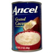 Goya Ancel Grated Coconut in Syrup, 34 Ounce -- 12 per case.