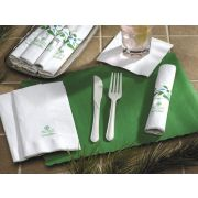 Hoffmaster Earth Wise CaterWrap Biodegradable Fork and Knife, 15 x 17 inch - 50 per pack -- 2 packs per case.