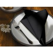 Hoffmaster FashnPoint Flat Pack Ultra Ply Color In Depth Black Dinner Napkin, 15.5 x 15.5 inch -- 750 per case.