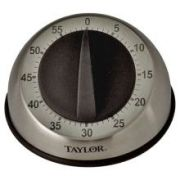 Taylor Stainless Steel Mechanical Long Ring Cooking Timer, 3 3/4 inch -- 6 per case.