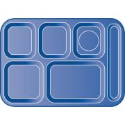 Tan Economical Durable Polypropylene 6 Compartment Right-Hand Tray 14.37 x 10 x 0.75 inch -- 1 each