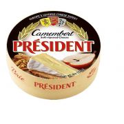 President Soft Ripened Camembert Brie Cheese, 8 Ounce -- 6 per case.