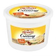 President Creamy Brie Gourmet Spreadable Cheese, 3.25 Pound -- 2 per case.