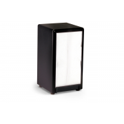 Two Sided Table Top Napkins Black Dispenser -- 1 Each