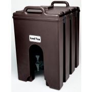 Camtainer Insulated Beverage Camtainer Dispenser, Dark Brown, 10 Gallon -- 1 each.