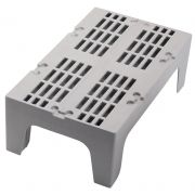 Cambro Slotted Brown Dunnage Rack, Speckled Gray, 48 inch -- 1 each.