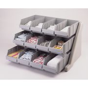 Cambro Organizer Rack with 12 Bins, Speckled Gray -- 1 each.