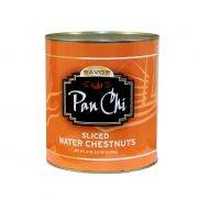 Pan Chi Sliced Water Chestnut,  109 ounce -- 6 per case.
