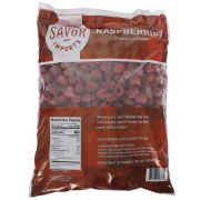 Savor Imports Whole Red Raspberry, 5 Pound -- 2 per case.