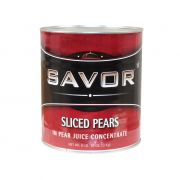 Savor Imports Sliced Pear in Natural Juices,  109 ounce -- 6 per case.