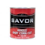 Savor Imports Cut Baby Corn,  109 ounce -- 6 per case.