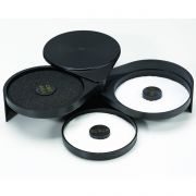 Tablecraft Cash and Carry ABS Plastic Black Glass Rimmer -- 4 per case.