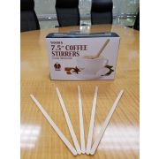 "7 1/2"" Classic Coffee Stirrers Rounds Ends, 10 Case --- 500 Count"