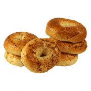 Just Bagels Garlic Bagel, 4 Ounce -- 48 per case.