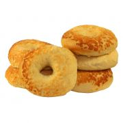 Just Bagels Asiago Cheese Bagel, 4 Ounce -- 48 per case.