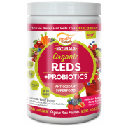 Healthy Delights Organic Reds Powder Plus Probiotics, 10.5 Ounce Canister -- 12 per case.
