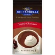 Ghirardelli Hot Cocoa Double Chocolate, 0.85 Ounce Packet -- 23 per case.