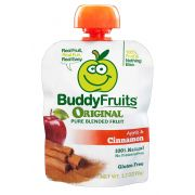 Buddy Fruits Originals Apple and Cinnamon Fruit Blend, 3.2 Ounce -- 18 per case.