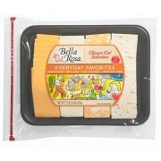 Bella Rosa Everyday Favorites Classic Cut Variety Cheese Tray, 1 Pound -- 12 per case.