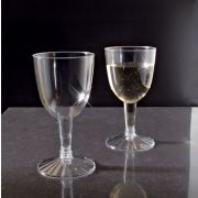 Yoshi Ware Emi Resposable Clear Wine Goblet Glass, 5 Ounce - 20 per pack -- 25 packs per case.