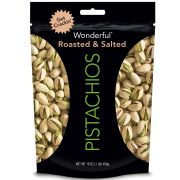 Wonderful Roasted and Salted Pistachios, 16 Ounce -- 12 per case.