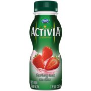 Activia Strawberry Drink, 7 Fluid Ounce -- 12 per case.