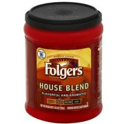 Folgers House Blend Caffeinated Ground Coffee, 10.3 Ounce -- 6 per case.