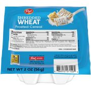 Post Shredded Wheat Frosted Cereal, 2 Ounce -- 48 per case.